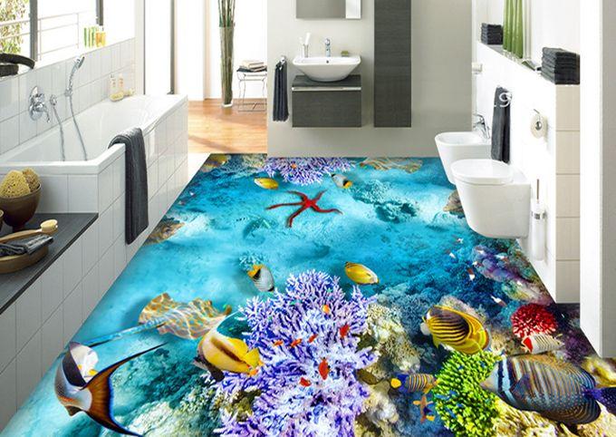 les 13 meilleures images du tableau salle de bain rev tement de sol salle de bain trompe l 39 il. Black Bedroom Furniture Sets. Home Design Ideas