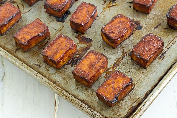 This baked barbecue tofu recipe is one that even a tofu hater can love! I'll also teach you some ways to make tofu more palatable if you're not a fan.