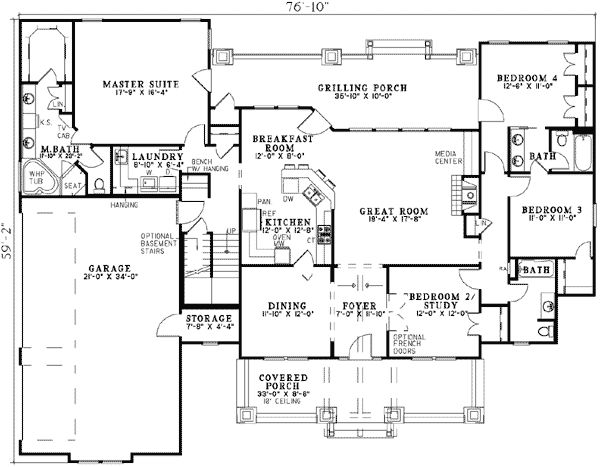 Affordable Rustic Retreat - 59978ND | Architectural Designs - House Plans