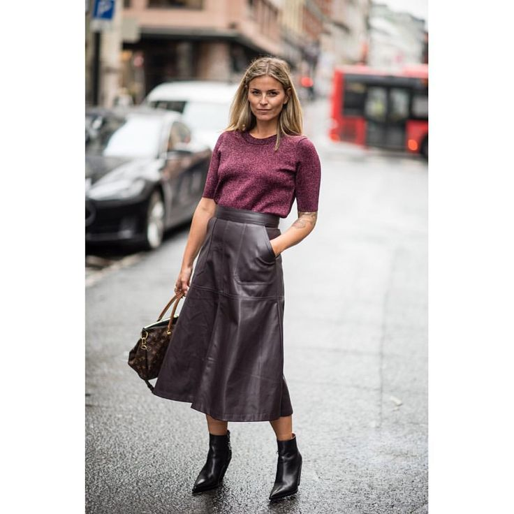 Burgunder. Skirt. Learher. By @ polliani