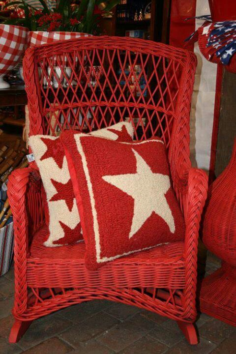 Throw Pillows For Wicker Furniture : 3275 best images about Granny's Red and white Cottage on Pinterest Cottages, Little red and ...