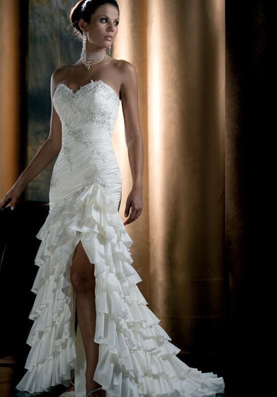 White Dress Glamorous Stylish Wedding Dresses For Brides