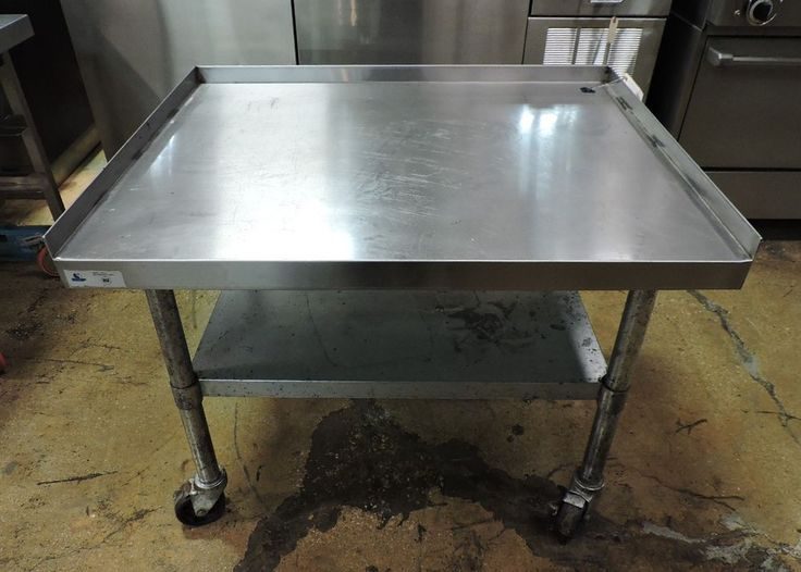 Commercial Stainless Steel Work Table w/ Galvanized Undershelf
