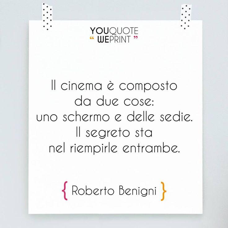 Citazione di Roberto Benigni #cinema