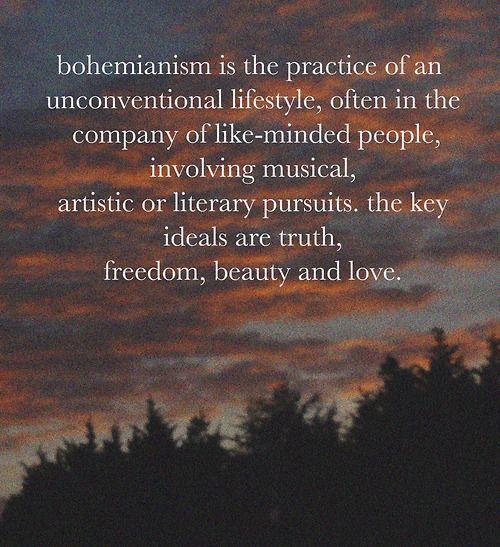 artistic bohemian quotes | bohemianism | Tumblr