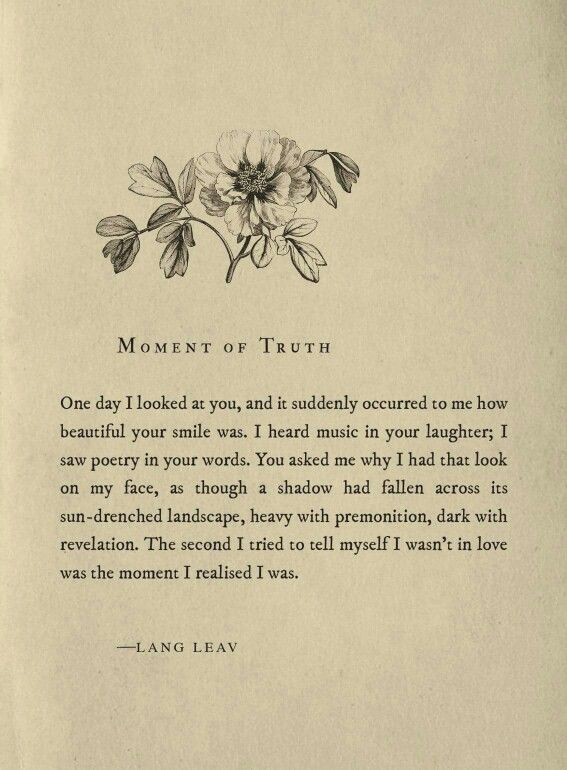 moment of truth  ~ lang leav