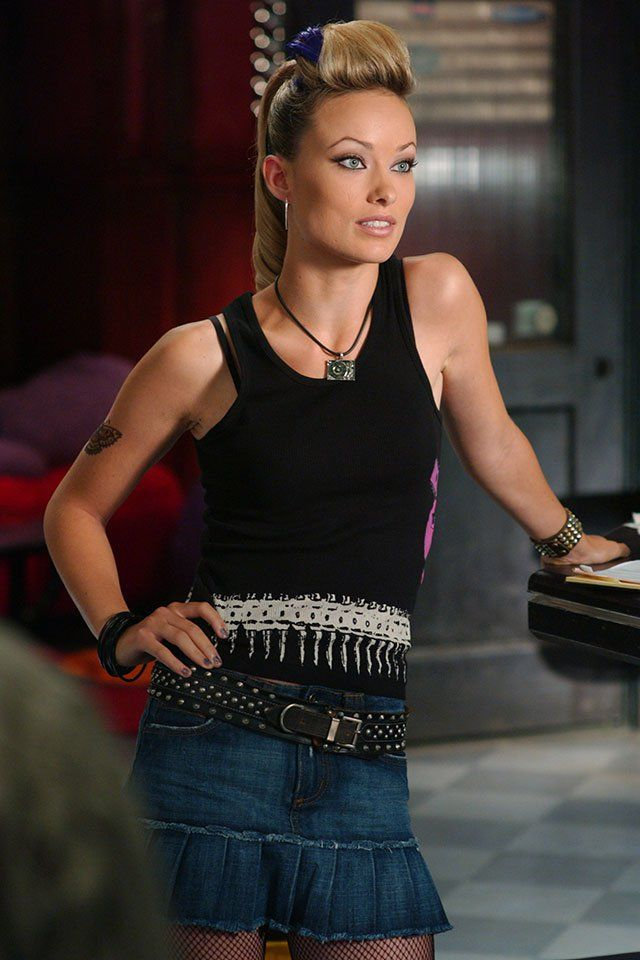 Pin for Later: 29 Ways The O.C. Shaped Our Teens The Vests Yep, Olivia Wilde right there — rocking a jeans mini and punk hairdo.