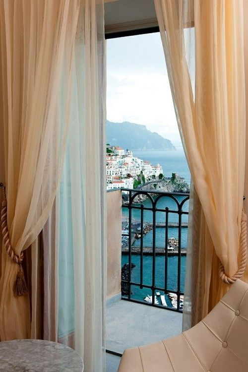 view from Grand Hotel Convento di Amalfi, Italy