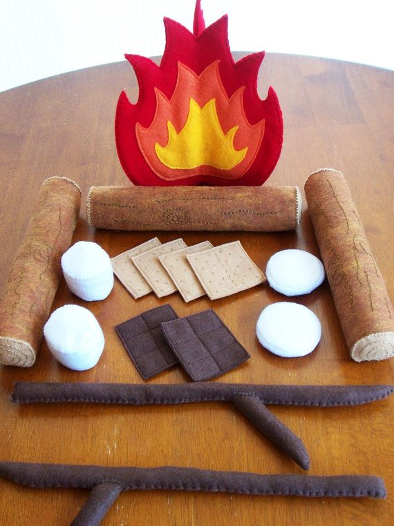 Felt Campfire Eco Friendly Childrens Pretend by feltplayground, $65.00
