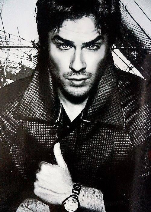 Even in black & white Ian Somerhalder's eyes are so damn sexy! Love his gorgeous blue eyes!!
