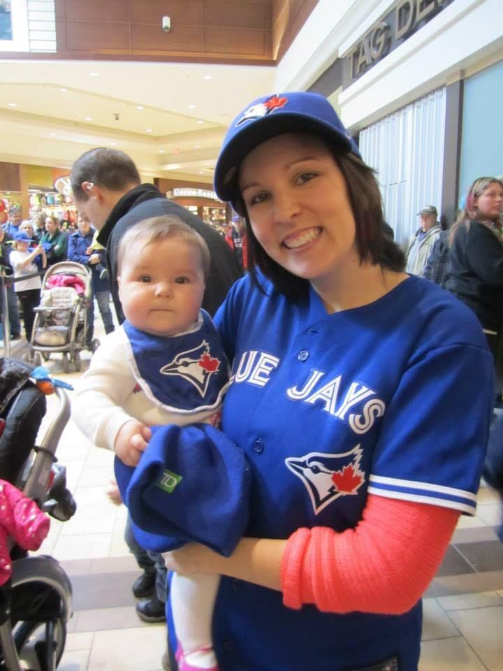 The youngest #Toronto #BlueJays fan, yet! #Baseball #GTA #Toronto #PTBO