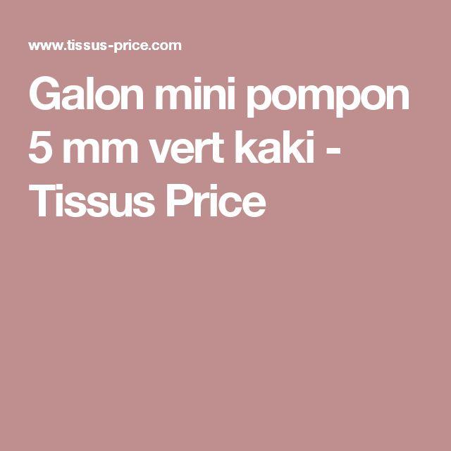 Galon mini pompon 5 mm vert kaki - Tissus Price