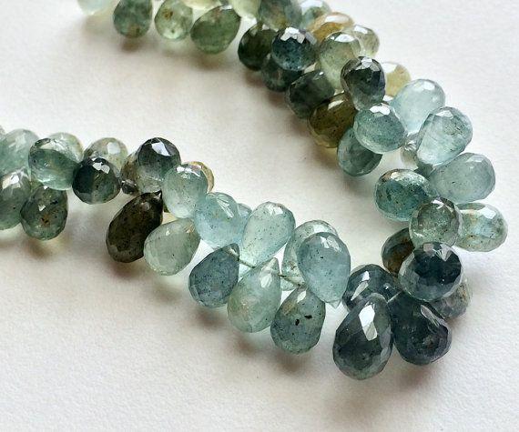 Moss Aquamarine Beads Moss Aquamarine Faceted by gemsforjewels