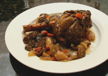 Savory Oven Braised Lamb Shanks