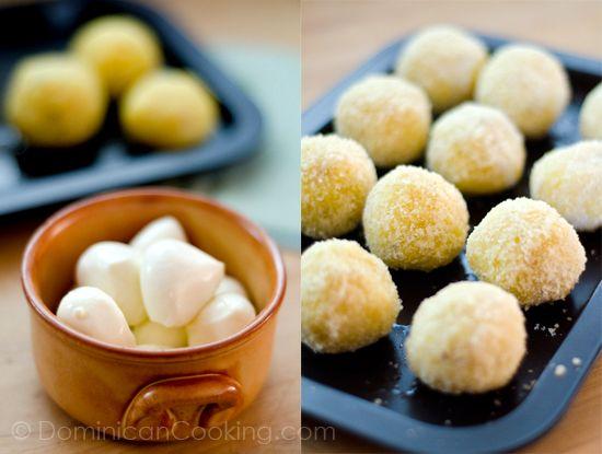 Cheese-crusted ripe plantain balls recipe – Aunt Clara's Kitchen
