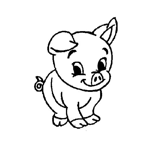 Baby pig free colouring pages for Pig coloring pages