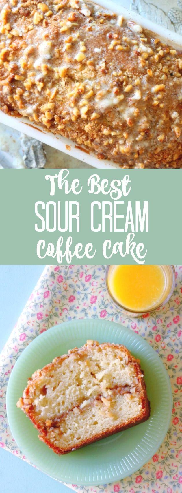 The Best Sour Cream Coffee Cake