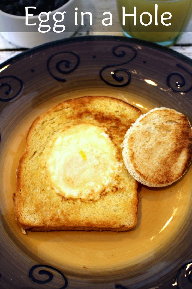 Egg in a hole - a quick, easy, healthy breakfast that your kids will love!