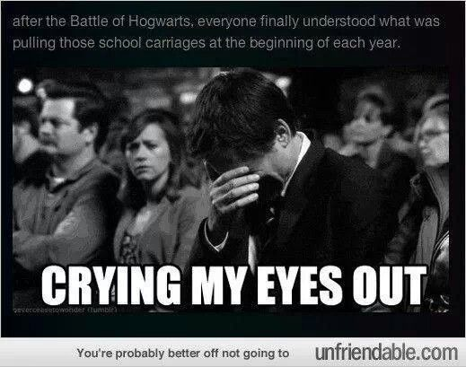 After the battle of Hogwarts everyone saw the Thestrals!