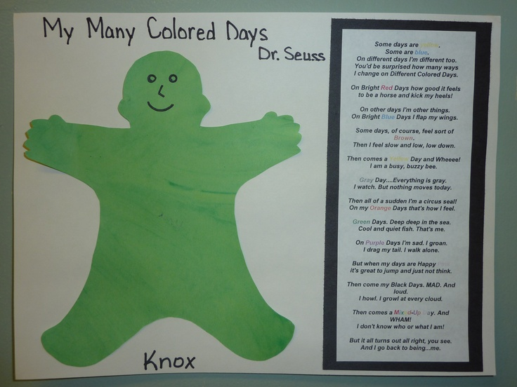 24 best many colored days preschool ideas images on pinterest my many colored days my preschoolers yrs easel painted with their favorite color and i made a template from the book and cut the person out then printed pronofoot35fo Choice Image