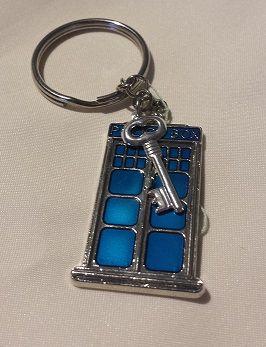 Doctor Who TARDIS Key Ring with Key Charm - Nicnack's Nick-Nacks www.nicnacksnicknacks.com.au