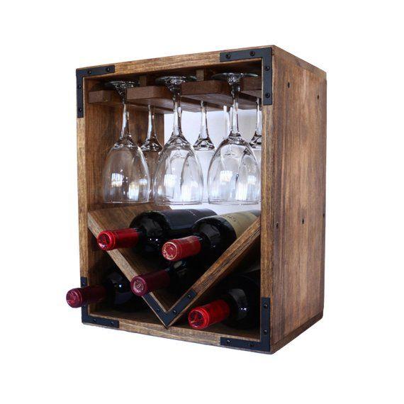This Item Is Unavailable Etsy Unique Wine Racks Wine Bottle Glass Holder Rustic Wine Racks