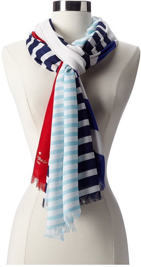 Kate Spade New York Monaco Stripe Scarf Scarve