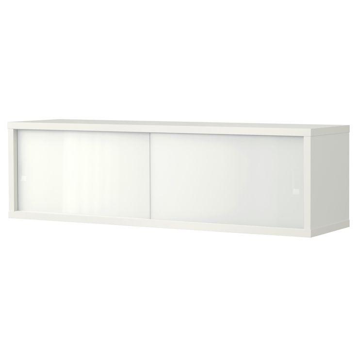ÖSTHAMRA Väggskåp med 2 vitrindörrar - IKEA