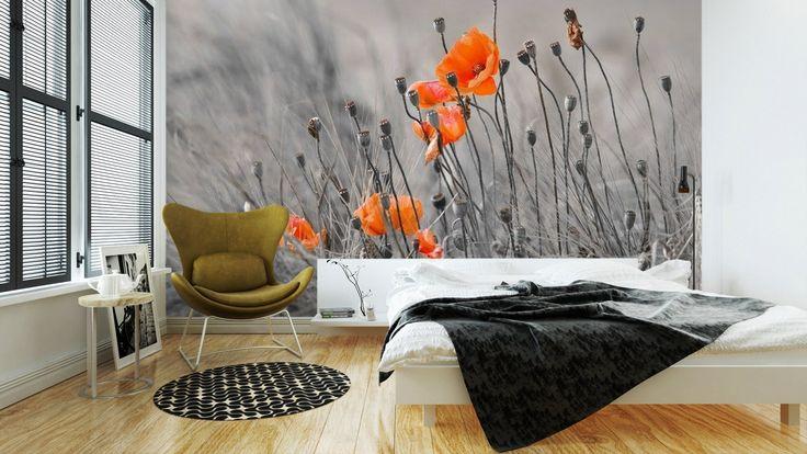 Omyvatelná Fototapeta Vlčí máky ✓ Snadná instalace ✓ 365 denní záruka vrácení peněz ✓ Procházejte ostatní vzory z této kolekce!