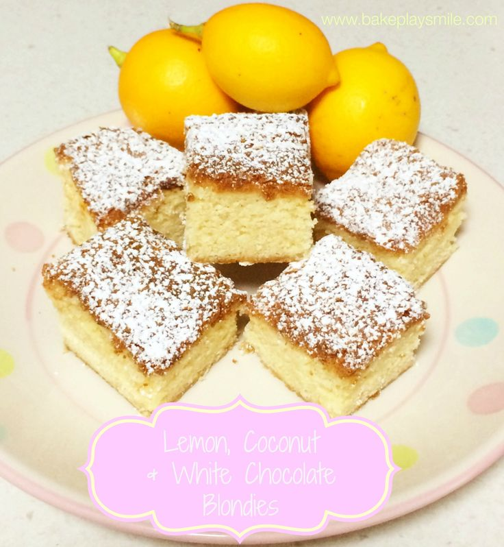 Thermomix Lemon, Coconut & White Chocolate Blondies! #thermomix http://www.bakeplaysmile.com/lemon-coconut-white-chocolate-blondies/