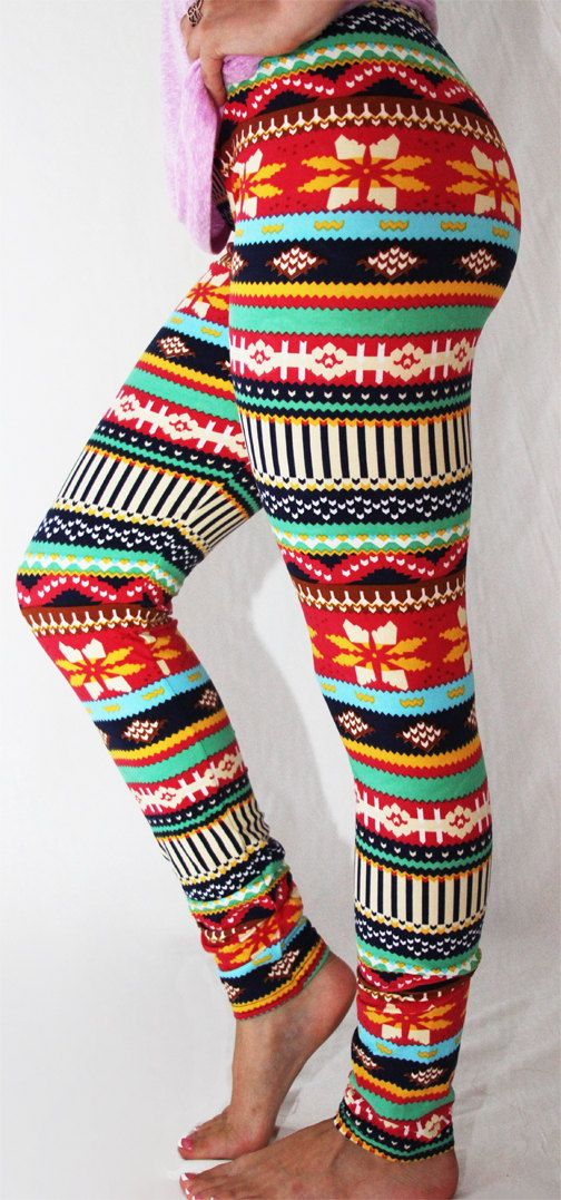 FREE SHIPPING  for any 2 items Christmas by LazyDaisyLeggings