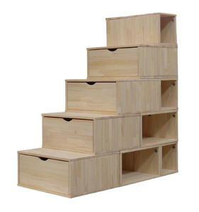 Afficher plus d'informations du produit Escalier Cube de rangement Hauteur 125 cm