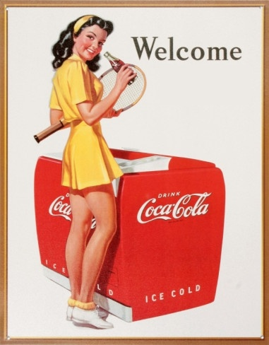 Tennis with Coca-Cola: Coca Cola, Signs, Coke, Cola Ad, Cocacola, Pin Up, Vintage Ads