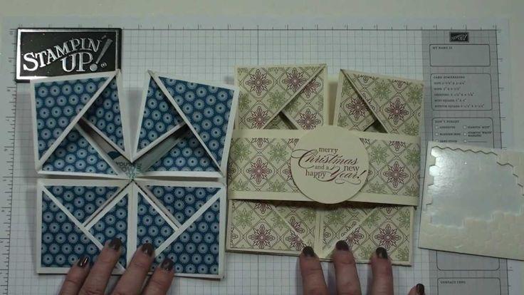 Napkin Fold card with Dawn