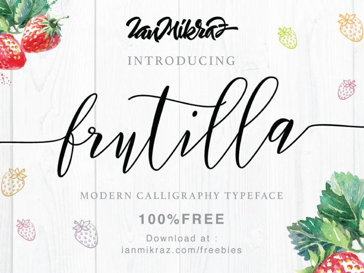 Frutilla Script Free Typeface by ianmikraz
