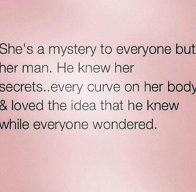 She's a mystery