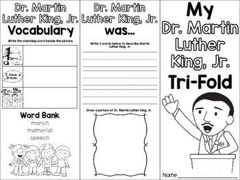Martin Luther King Jr Freebie Tri-Fold