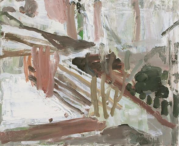 Eilif Amundsen - Vår med sne - olje på lerret, 50x61 cm