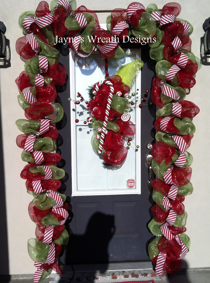 Candy Cane Wreath and Garland