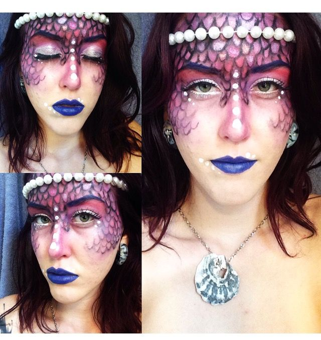 Tribal Mermaid Hallowen Makeup