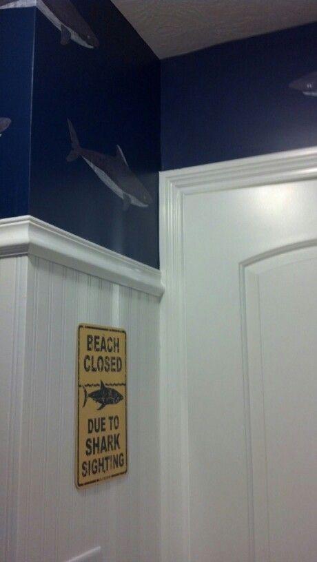 I had a profestional do the trim board   Shark BathroomBoy. 11 best Boy s Shark bathroom images on Pinterest   Shark bathroom