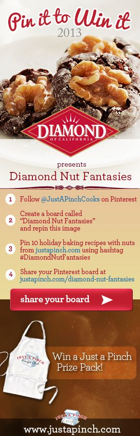 For more information visit justapinch.com/diamond-nut-fantasies