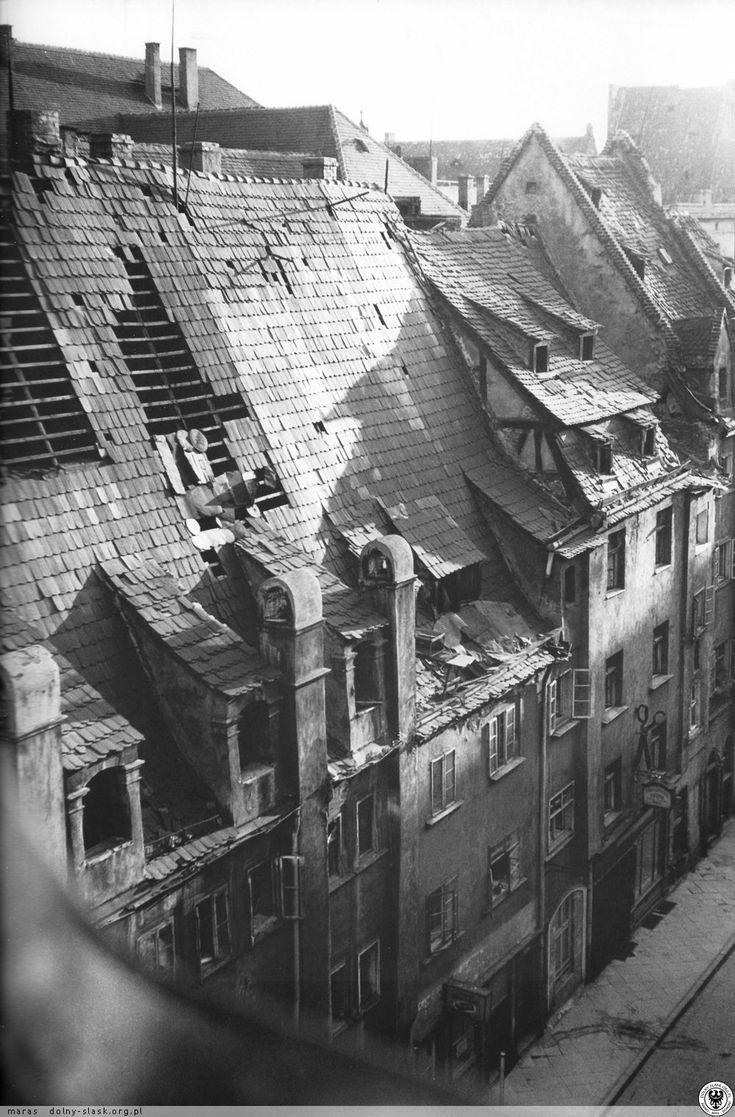 Ulica Malarska, pierzeja południowa. 1945