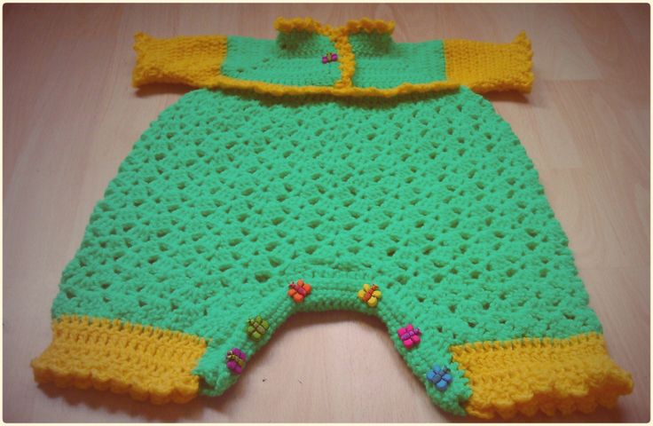 Crochet handmade baby romper, bodysuit by CrochetByJADEGoods on Etsy