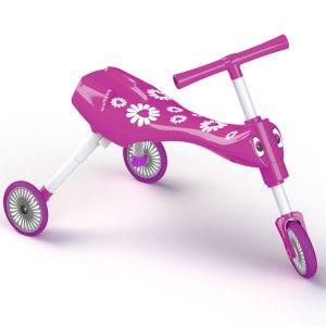 Scuttlebug Fleur in Pink - Toddler Folding Trike | Scuttlebug Toddler Trike