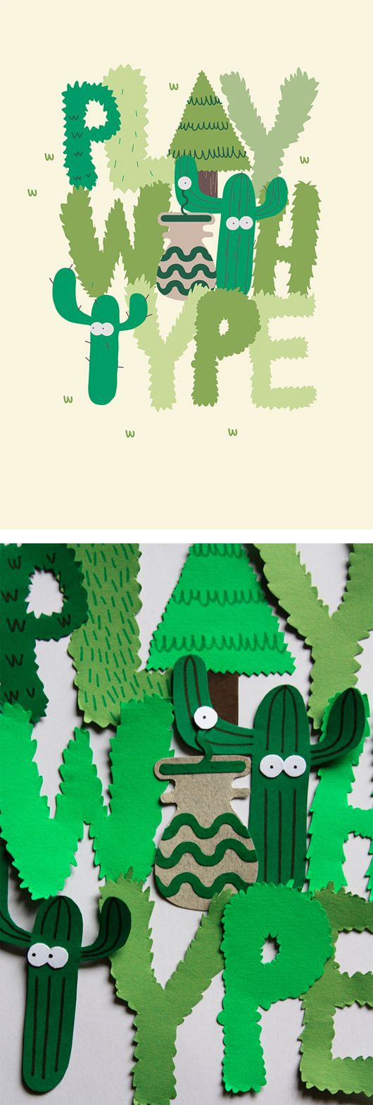 Typography & Illustrations by Jose Miguel Méndez | Inspiration Grid | Design Inspiration