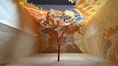 Yuken Teruya, pop-up landscapes fashioned from luxury brand and fast-food paper bags