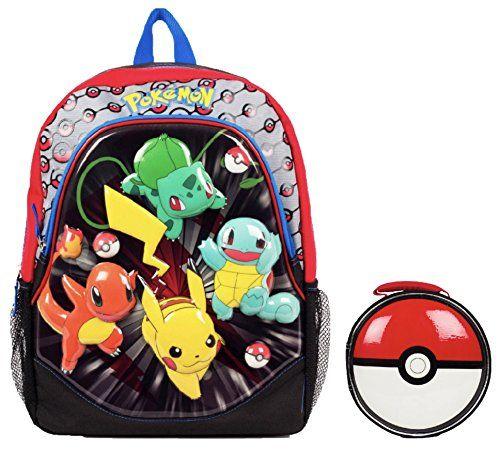 Nintendo Pokemon Molded 3D Kids Backpack & Pokeball Lunchbox – Pokemon Coin Purse & Pokemon Bag