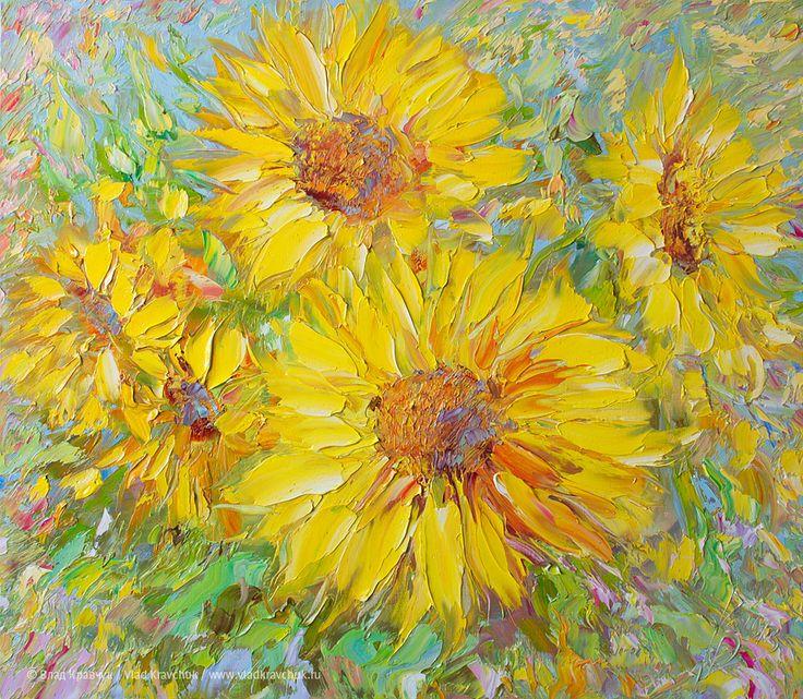 Цветы солнца, 2013. Холст, масло, 70х80