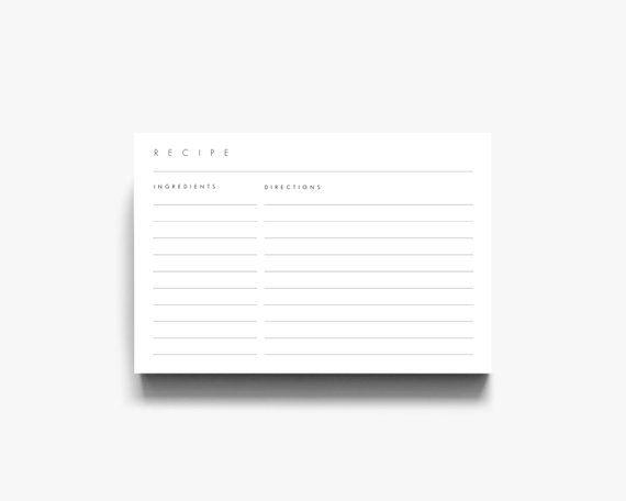 4x6 Recipe Template 3x5 Recipe Cards Recipe Card Template Recipe Cards 3 X 5 Recipe 4 X 6 R Recipe Cards Recipe Cards Template Business Card Template Word